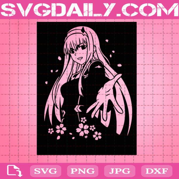 Zero Two Svg, Anime Svg, Manga Svg, Instant Download, Japanese Svg, Anime Svg, Anime Svg Png Dxf Eps Cut Files Vinyl Clip Art Download