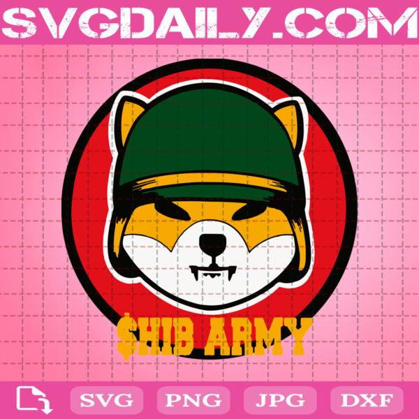 Shib Army Shiba Inu Coin Svg, Funny Dogcoin Svg, Shiba Inu Coin Svg, Svg Png Dxf Eps AI Instant Download