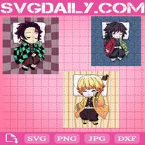 Anime Svg, Kamado Tanjiro Svg, Giyu Tomioka Svg, Agatsuma Zenitsu Svg, Sleeping Svg, Digital Files