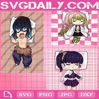 Anime Svg, Tsuyuri Kanao Svg, Mitsuri Kanroji Svg, Hashibira Inosuke Svg, Sleeping Svg, Digital Files