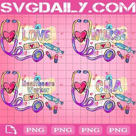 Bundle Love Nurse Png, Nurse Life Png, Nurse Doctor Png, Healthcare Worker Png, CNA Life Png, Nurse Stethoscope Png, Nurse Gift Png