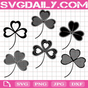 Clover With An Ornament Svg Bundle Free, St Patricks Day Svg Free, Clover Leaf Svg Free, Clip Cut File Svg, File Svg Free
