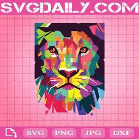 Colorful Lion Head Svg, Patterned Lion Head Svg, Lion Head Svg, Coloful Lion Svg, Lion Svg, Lion Lovers Gift
