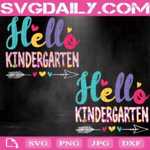 Hello Kindergarten Svg, Grade Svg, Back To School Svg, Hello Preschool Svg, Heart Arrow Svg, Teacher Gifts Svg