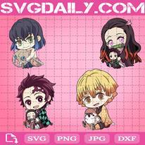 Kimetsu No Yaiba Svg, Anime Svg, Inosuke Svg, Kamado Nezuko Svg, Tanjiro Kamado Svg, Agatsuma Zenitsu Svg, Anime Lover Svg
