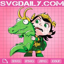 Lokidrilo For King Svg, Croki Svg, Kid Loki Svg, Svg Png Dxf Eps AI Instant Download