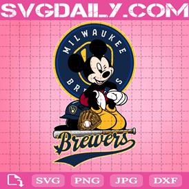 Milwaukee Brewers Mickey Svg, Milwaukee Brewers Svg, Brewers Mickey Svg, Sport Svg, Mickey Svg, Mickey Sport Svg, MLB Sport Svg