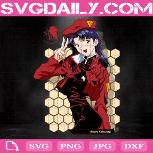Misato Katsuragi Svg, Evangelion Svg, Katsuragi Svg, Evangelion Misato Katsuragi Svg, Svg Png Dxf Eps AI Instant Download