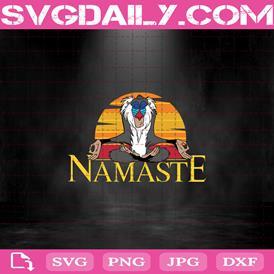Namaste Rafiki Yoga Svg, Disney Lion King Rafiki Namaste Svg, Namaste Rafiki Svg, Yoga Lover Svg, Yoga Svg