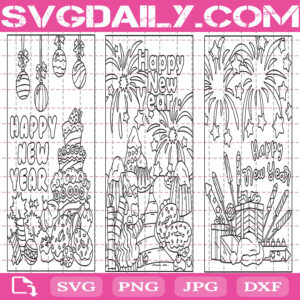 New Year's Eve Coloring Pages Svg Bundle Free, Coloring Pages For Kids Or Adults Svg Free, Holiday Coloring Pages Svg Free, Clip Cut File Svg, File Svg Free