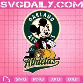 Oakland Athletics Mickey Svg, Oakland Athletics Svg, Athletics Mickey Svg, Sport Svg, Mickey Svg, Mickey Sport Svg, MLB Sport Svg