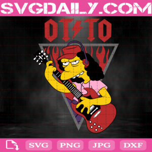 Otto Mann Svg, The Simpsons Svg, Otto Mann Simpsons Svg, Simpsons Svg, Svg Png Dxf Eps AI Instant Download