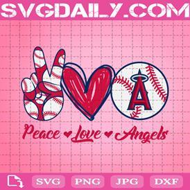 Peace Love Angels Svg, Sport Svg, Los Angeles Angels Svg, Angels Logo Svg, Angels Baseball Svg, Baseball Svg