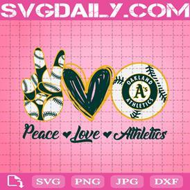 Peace Love Athletics Svg, MLB Team Svg, Athletics Svg, Oakland Athletics Svg, Sport Team Svg, Instant Download