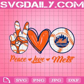 Peace Love Mets Svg, Sport Svg, New York Mets Svg, Mets Svg, Mets Baseball Svg, Baseball Svg, Mets MLB Svg