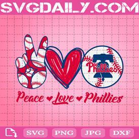 Peace Love Phillies Svg, Sport Svg, Philadelphia Phillies Svg, Phillies Svg, Phillies Baseball Svg, Baseball Svg, Phi