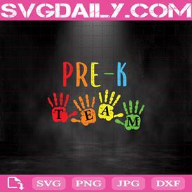 Pre-K Team Svg, Back To School Svg, Pre-K Squad Svg, Pre-K Teacher Svg, Pre-K Kid Svg, Teacher Life Svg, Teacher Gift