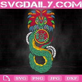 Quetzalcoatl Svg, Prehispanic Art Svg, Art Svg, Quetzalcoatl Art Svg, Svg Png Dxf Eps AI Instant Download