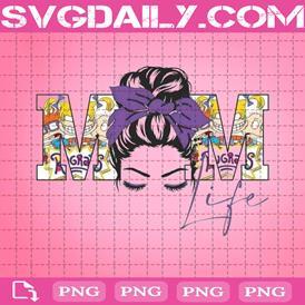 Rugrats Png, Mom Life Png, Messy Bun Png, Purple Png, Nickelodeon Png, Png Printable, Instant Download, Digital File