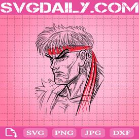 Ryu Svg, Street Fighter Svg, Street Fighter Ryu Svg, Svg Png Dxf Eps AI Instant Download