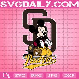 San Diego Padres Mickey Svg, San Diego Padres Svg, Padres Mickey Svg, Sport Svg, Mickey Svg, Mickey Sport Svg, MLB Sport Svg
