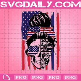 Skull Png, America Flag Png, First Mistake Png, Not A Sheep Png, Patriotic Png, 4th Of July Png, Png Printable, Instant Download, Digital File