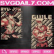 Street Fighter Bundle Svg, Guile Svg, Ryu Svg, Svg Png Dxf Eps AI Instant Download