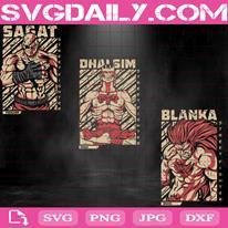 Street Fighter Bundle Svg, Sagat Svg, Dhalsim Svg, Blanka Svg, Svg Png Dxf Eps AI Instant Download