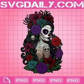 Sugar Skull Day Of The Dead Png, Skull Png, Roses Png, Png Printable, Instant Download, Digital File