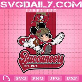 Tampa Bay Buccaneers Mickey Svg, Sport Svg, Tampa Bay Buccaneers Svg, Mickey Svg, Mickey Sport Svg, Football Team Svg, NFL Svg