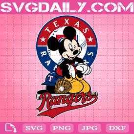 Texas Rangers Mickey Svg, Texas Rangers Svg, Rangers Mickey Svg, Sport Svg, Mickey Svg, Mickey Sport Svg, MLB Sport Svg