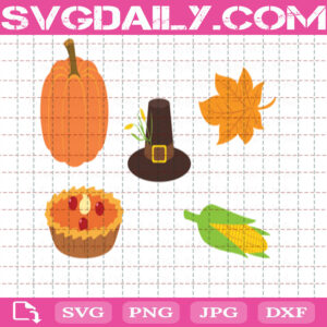 Thanksgiving Bundle Svg Free, Pumpkins Svg Free, Corn Svg Free, Hat Svg Free, Clip Cut File Svg, File Svg