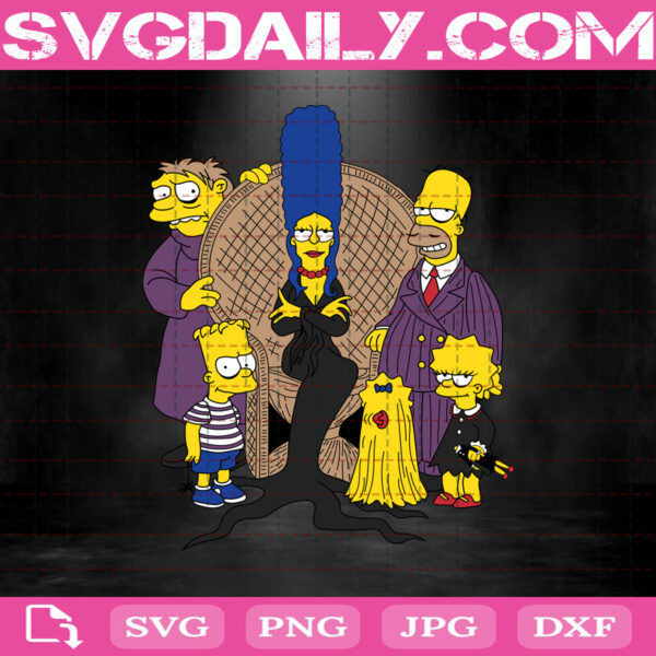 The Addams Family Simpsons Svg, The Simpsons Adams Svg, Adam Svg, Simpsons Svg, Svg Png Dxf Eps AI Instant Download