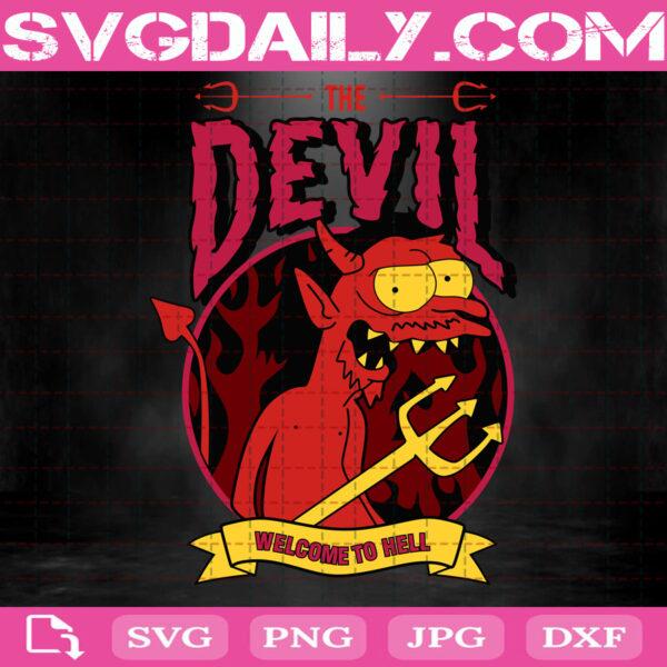 The Devil Svg, Simpsons Svg, The Devil Simpsons Svg, The Simpsons Svg, Svg Png Dxf Eps AI Instant Download