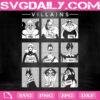 Villains Disney Ursula Svg, Cruella De Vil Svg, Maleficent Svg, Disney Ursula Svg, Svg Png Dxf Eps AI Instant Download