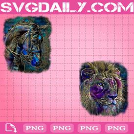 Watercolor Animals Bundle Png, Horse Png, Lion Png, Png Printable, Instant Download, Digital File