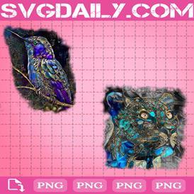 Watercolor Animals Bundle Png, Humming Bird Png, Panther Png, Png Printable, Instant Download, Digital File