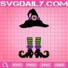 Witch Hat And Shoes Svg, Witch Monogram Svg, Witch Hat And Feet Svg, Witch Legs Svg, Halloween Svg, Halloween Gift Svg