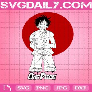 Circle Red Luffy One Piece Svg, Anime Cartoon Svg, Luffy One Piece Svg, Manga Svg, Svg Png Dxf Eps AI Instant Download