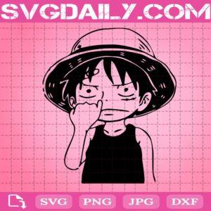 Cute Face Luffy Svg, Monkey D. Luffy Svg, Luffy One Piece Svg, Anime Svg, Svg Png Dxf Eps Download Files