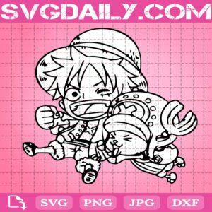 Luffy And Tony Tony Chopper Svg, Luffy One Piece Svg, Tony Tony Chopper Svg, Svg Png Dxf Eps Download Files