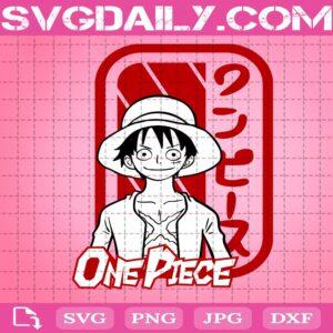 Luffy One Piece Svg, One Piece Svg, Anime Cartoon Svg, One Piece Anime Svg, Cricut Digital Download, Instant Download