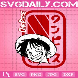 Luffy Smile One Piece Svg, One Piece Monkey D. Luffy Svg, Anime Manga Svg, Svg Png Dxf Eps AI Instant Download