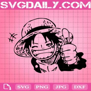 Luffy Super Like Svg, Luffy Smile Svg, Cute Monkey Luffy Svg, Cartoon Svg, Anime Svg, Svg Png Dxf Eps Download Files