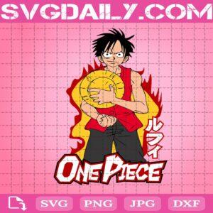 Monkey D. Luffy Svg, Monkey D. Luffy With Straw Hat Svg, One Piece Svg, Luffy Svg, Anime Svg, Svg Png Dxf Eps Download Files