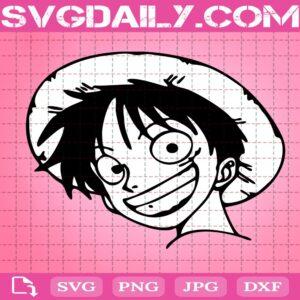 Monkey D.Luffy Face Svg, Luffy Smile Svg, One Piece Svg, Anime Manga Svg, Svg Png Dxf Eps Download Files