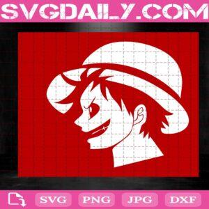 Monkey D.Luffy Head Svg, Anime One Piece Svg, Japan Cartoon Svg, Anime Svg, Svg Png Dxf Eps AI Instant Download