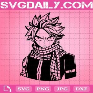 Natsu Dragneel Svg, Fairy Tail Svg, Anime Fairy Tail Svg, Manga Svg, Anime Gift Svg, Svg Png Dxf Eps AI Instant Download