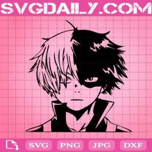 Shoto Todoroki Svg, My Hero Academia Svg, Hero Svg, BNHA Svg, Anime Svg, Svg Png Dxf Eps Download Files