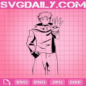 Yuji Itadori Svg, Jujutsu Kaisen Svg, Manga Anime Svg, Anime Character Svg, Svg Png Dxf Eps Download Files